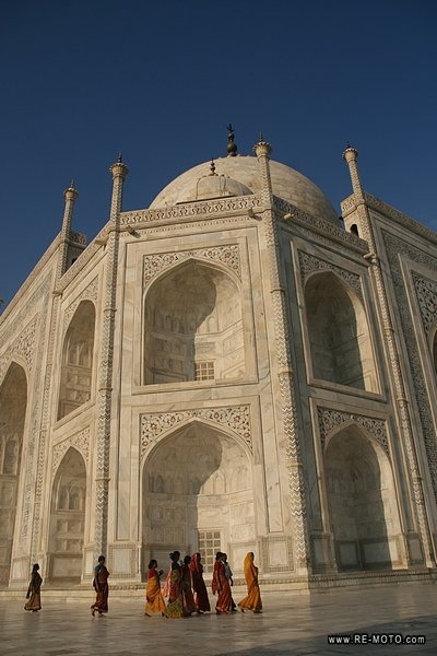 Emperor Sha Jahan built the Taj Mahal in honour of his wife, who died giving birth to their 14th son.